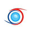 eye ball abstract logo vector image vector image