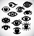 Eye design icons vector image vector image
