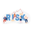 financial risk and economy crisis concept vector image
