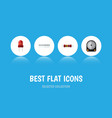 flat icon appliance set of hdd memory recipient vector image vector image