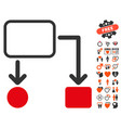 flowchart scheme icon with lovely bonus vector image vector image