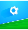 flying soccer ball vector image vector image