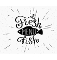Freash fish menu vector image