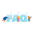 frequently asked questions concept people vector image