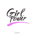 Girl power Inspirational quote feminism quote vector image