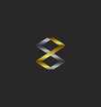 gold and silver letter z the mockup of the sign vector image