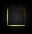 golden rectangular frame with falling shiny dust vector image vector image