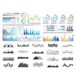 graphics and flowcharts schemes and charts set vector image vector image