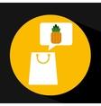 grocery shopping bag pineapple fruit design vector image vector image