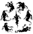 halloween ghosts scary set vector image vector image