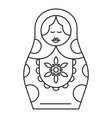 handmade nesting doll icon outline style vector image vector image