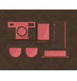 Hipster Pink vector image