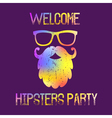 Hipsters Party Invitation vector image vector image
