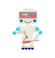 home robot for housework vector image vector image