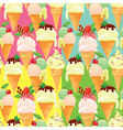 ice cream seamless 380 vector image vector image