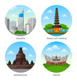 indonesia attractions vector image