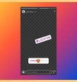 instagram stories interface poll element vector image