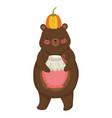 isolated bear cartoon design