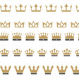 king crown logo vector image vector image