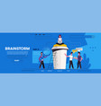 landing page with group people vector image vector image