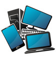 laptop computer smartphone and monitor repair and vector image vector image