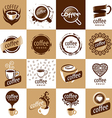 large set of logos coffee vector image