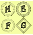 letter Fonts of Mesh vector image vector image