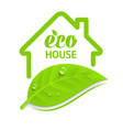 logo eco house vector image