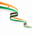 niger flag wavy abstract background vector image