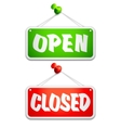 Open and Closed Door Signs vector image vector image