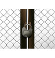 padlockable metal door background vector image