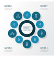 people outline icons set collection of male vector image vector image