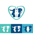 pet care logo design vector image