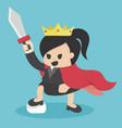 queen of business vector image vector image