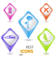 Rest pointer set vector image vector image