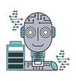 robot artificial intelligence battery charge vector image