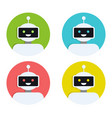 robot icon set bot sign design chatbot symbol vector image vector image