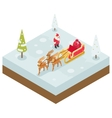 Santa Claus Grandfather Frost Sleigh Reindeer vector image vector image