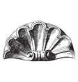 scallop design shell was used as a decoration of vector image vector image