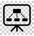 Scheme Demonstration Screen Icon vector image