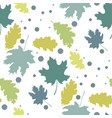 seamless pattern with autumn leaves silhouettes vector image vector image