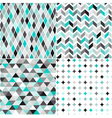 seamless turquoise geometric pattern vector image vector image