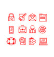 set of business icons on a white background vector image