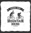 set of mountain biking clubs vector image vector image