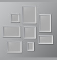 set of white photo frames vector image