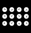 set with different times og clock icons vector image vector image