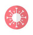 simple flat design icon with coronavirus vector image vector image