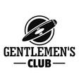 smoking gentlemen club logo simple style vector image vector image