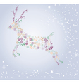 snow deer vector image vector image