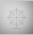 spider web icon on grey background cobweb sign vector image